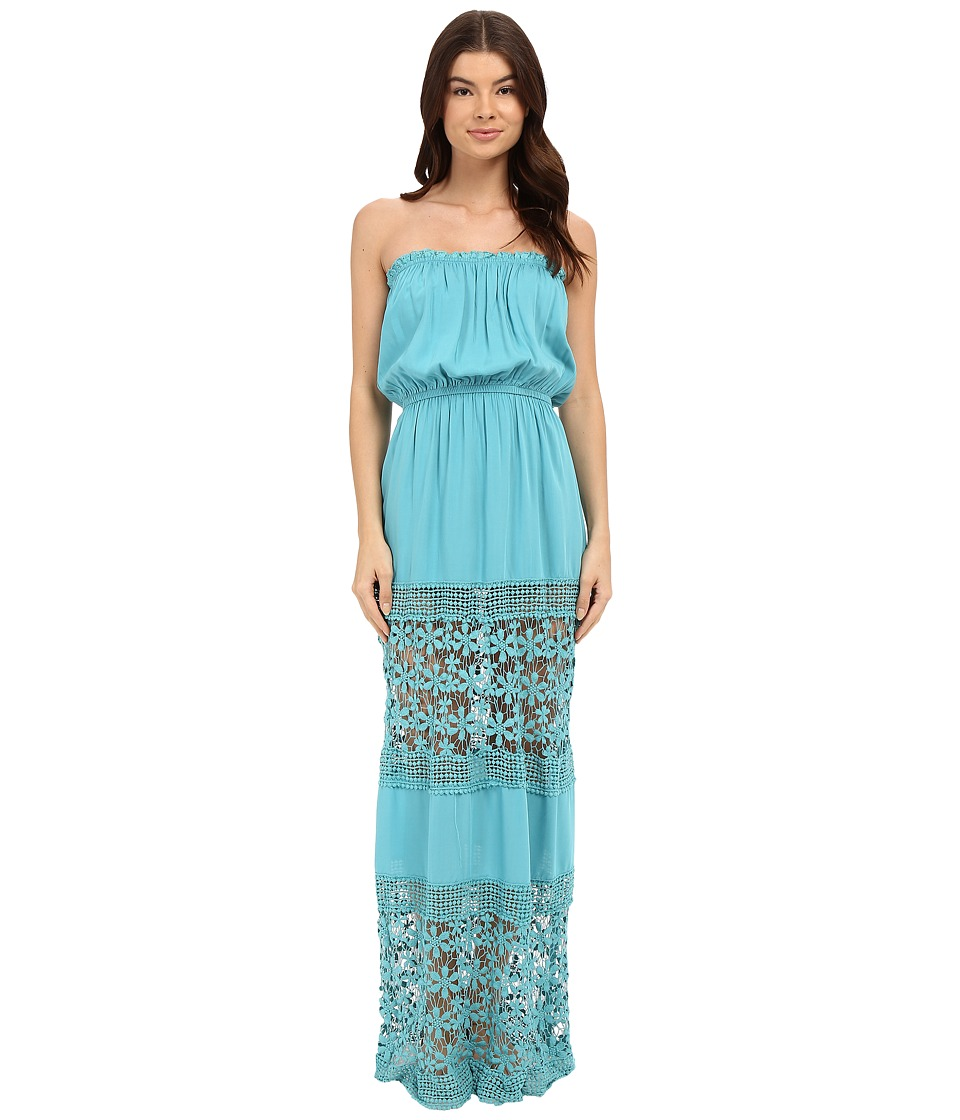 6 Shore Road by Pooja - Charlotte Maxi Dress Cover-Up (Blue Piscina) Women's Swimwear