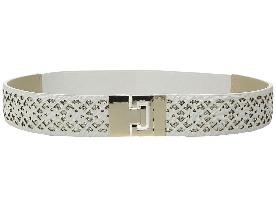 Ivanka Trump - 42mm Stretch Belt with Peekaboo Perf (White) Women's Belts