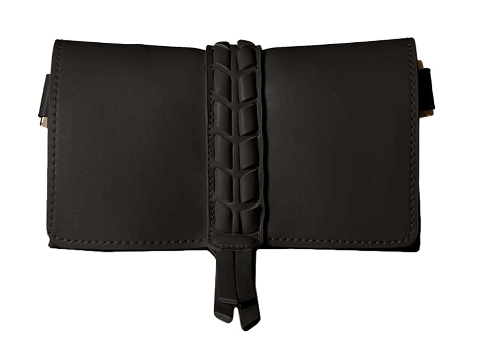 Ivanka Trump - Belt Bag with Lacing Detail On 20mm Panel (Black) Women's Belts