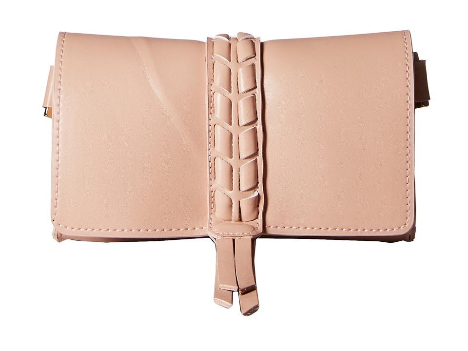 Ivanka Trump - Belt Bag with Lacing Detail On 20mm Panel (Rose) Women's Belts