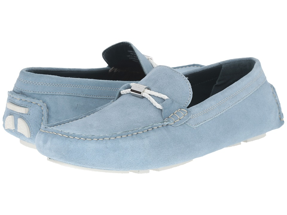 Ted Baker - Carlsun 2 (Light Blue Suede) Men's Slip on Shoes