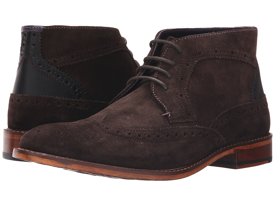 Ted Baker - Pericop 2 (Dark Brown/Black Suede) Men's Lace-up Boots