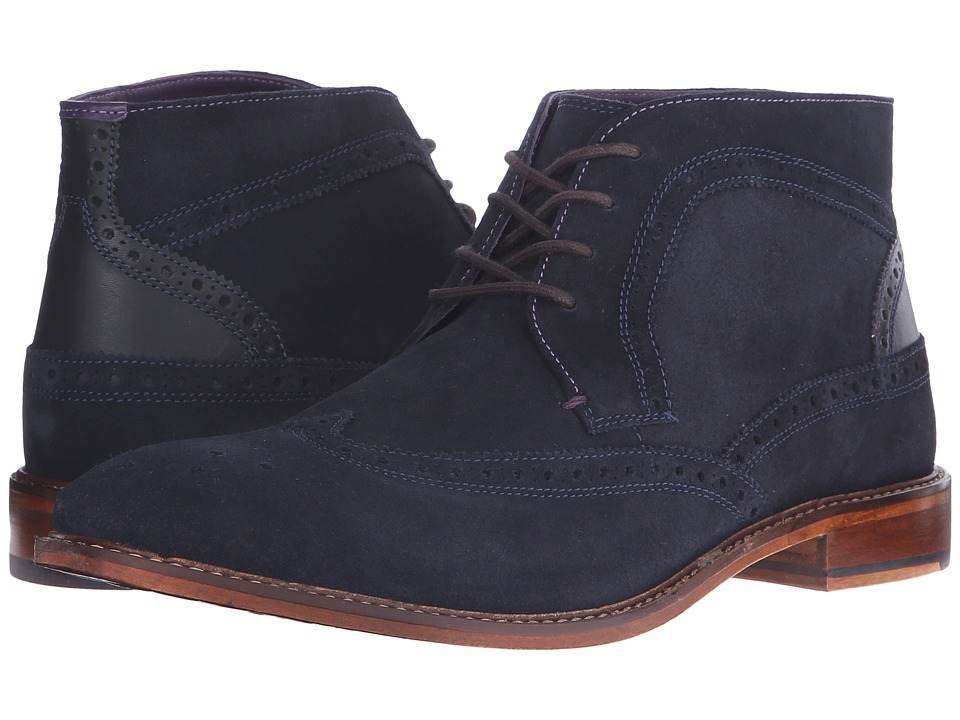 Ted Baker - Pericop 2 (Dark Blue/Black Suede) Men's Lace-up Boots