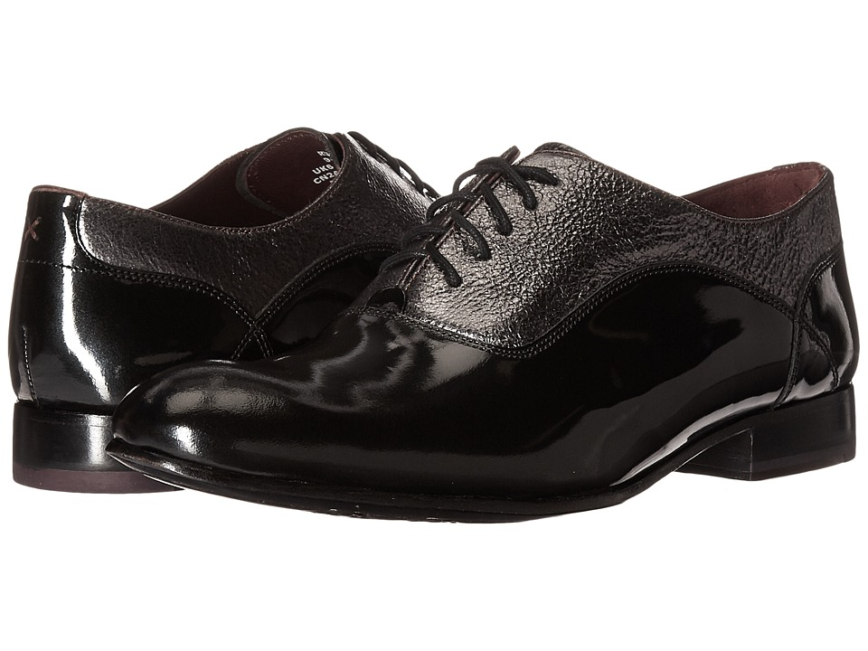 Ted Baker - Rugely (Dark Grey High Shine Leather) Men's Shoes