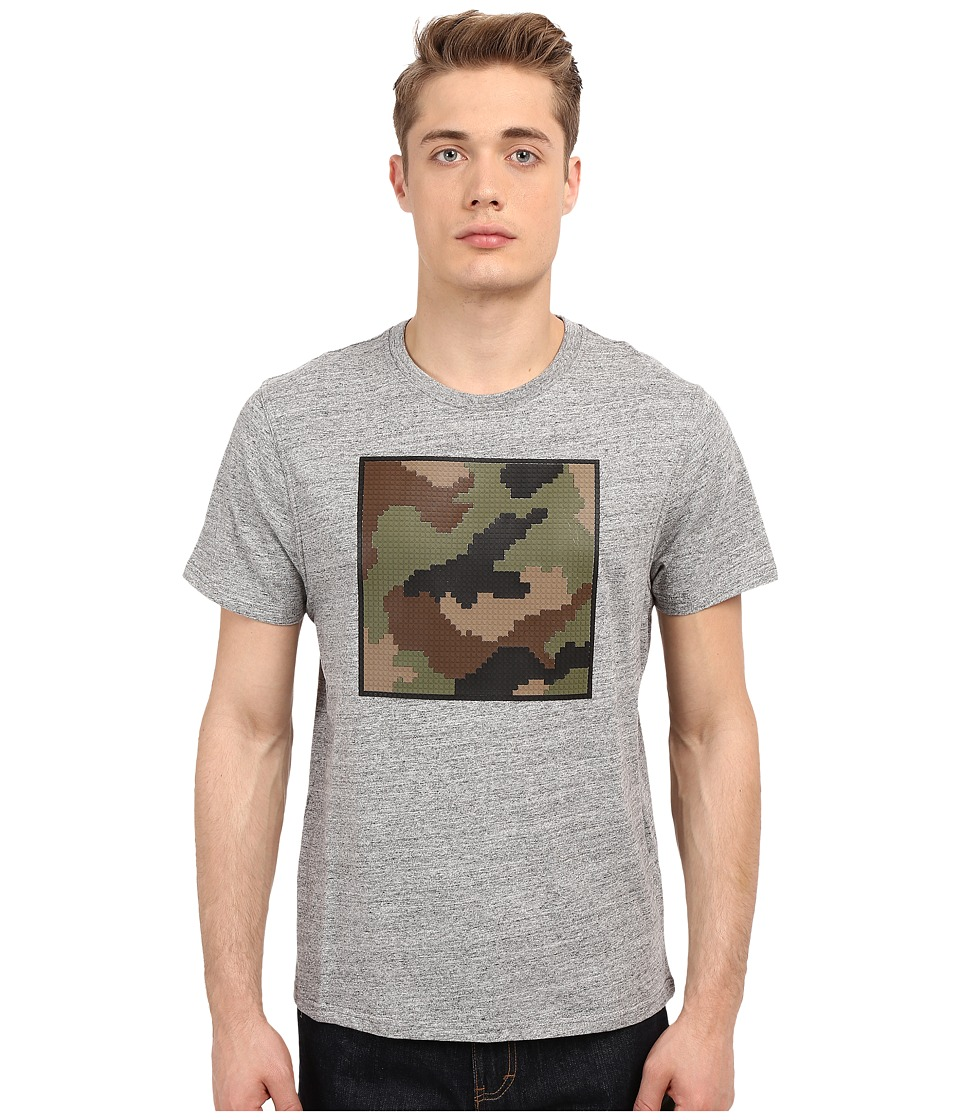 Mostly Heard Rarely Seen - Nanoblock Camo Tee (Heather Grey) Men's T Shirt