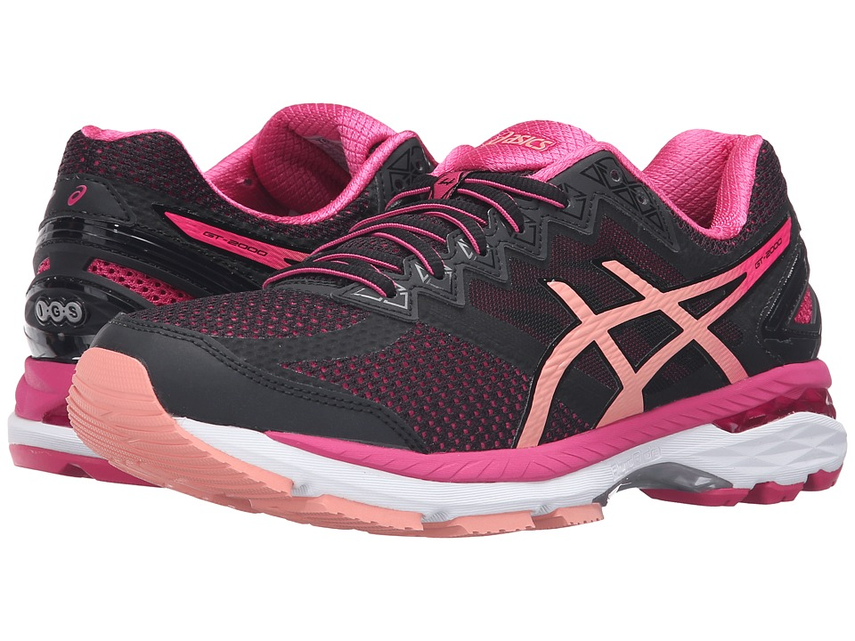 ASICS - GT-2000 4 (Black/Peach Melba/Sport Pink) Women's Running Shoes