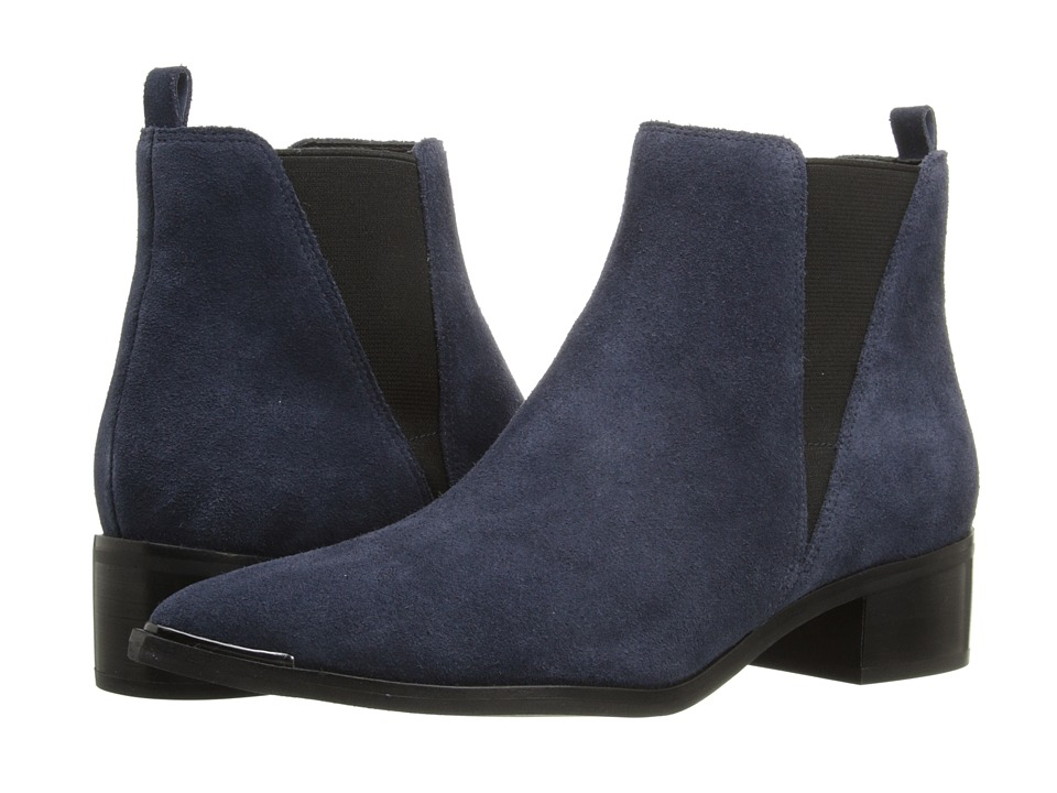 Marc Fisher LTD - Yale (Dark Blue Suede) Women's Dress Pull-on Boots