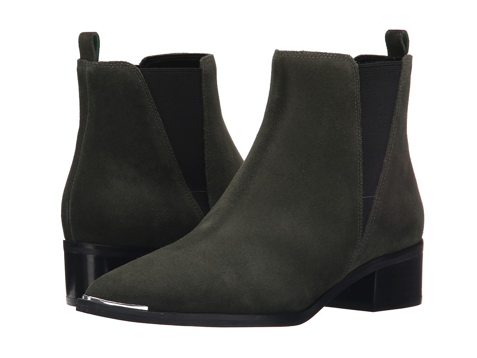 Marc Fisher LTD - Yale (Dark Green Suede) Women's Dress Pull-on Boots