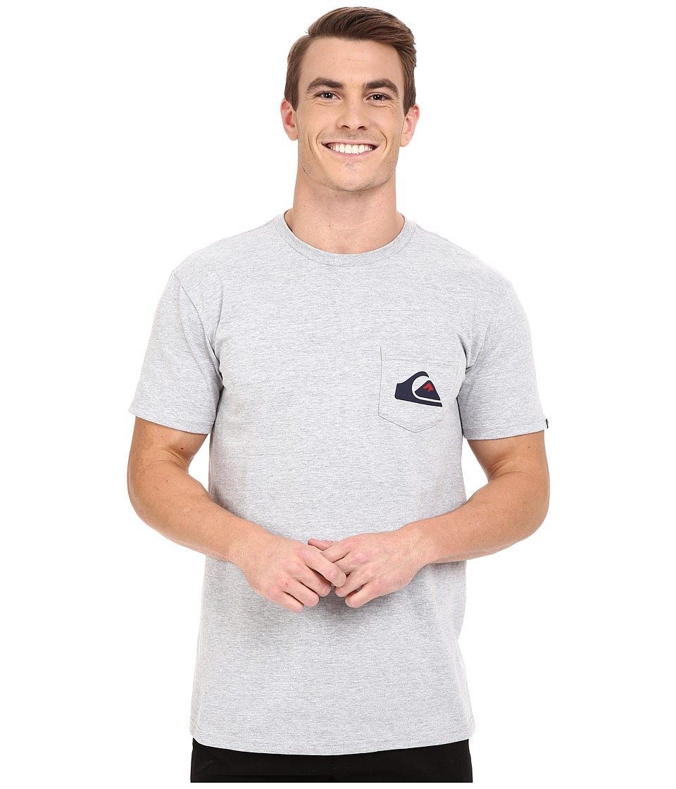 Quiksilver - Everyday Logo Tees (Athletic Heather) Men