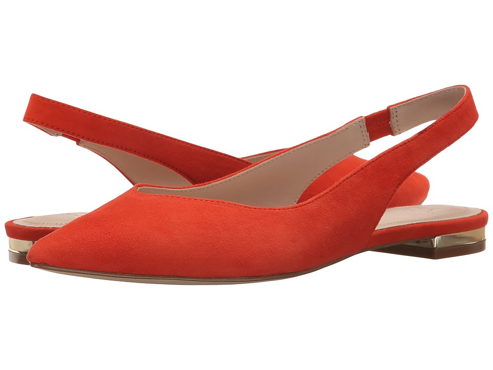 Marc Fisher LTD - Silvia (Orange Suede) Women's Dress Flat Shoes