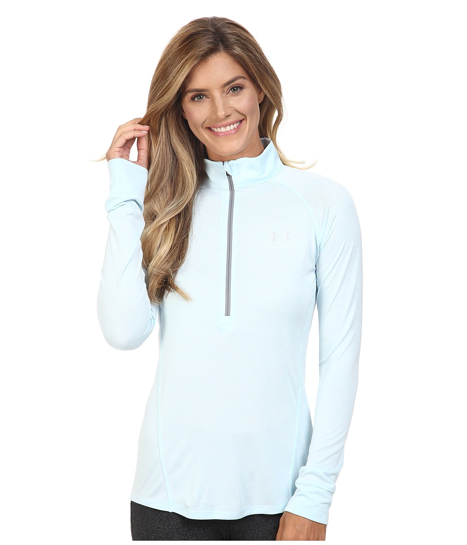 Under Armour - UA Techtm 1/2 Zip Twist (Maui/Steel/Metallic Silver) Women's Long Sleeve Pullover