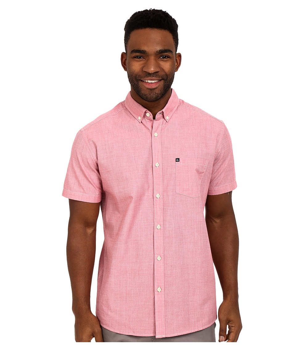 Quiksilver - Wilsden Short Sleeve Woven Top (American Beauty) Men's Short Sleeve Button Up