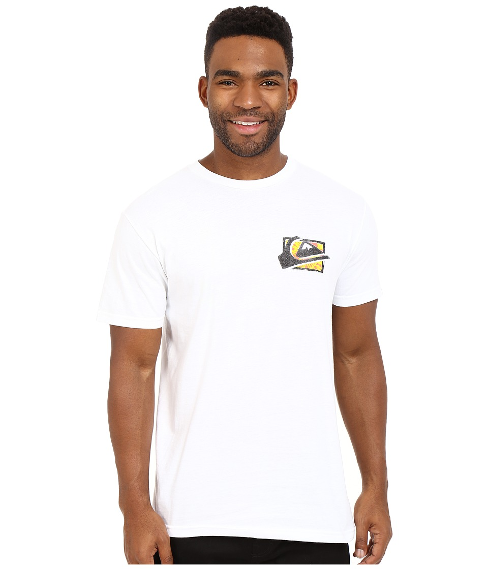 Quiksilver - Mountaion Wave Spray Tees (White) Men's Short Sleeve Pullover