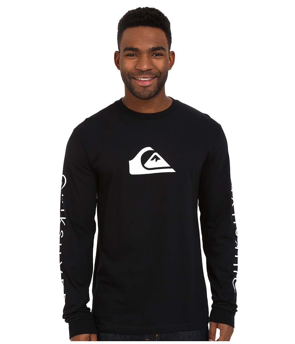 Quiksilver - Everyday Mountain Wave Long Sleeve Tees (Black) Men's Long Sleeve Pullover