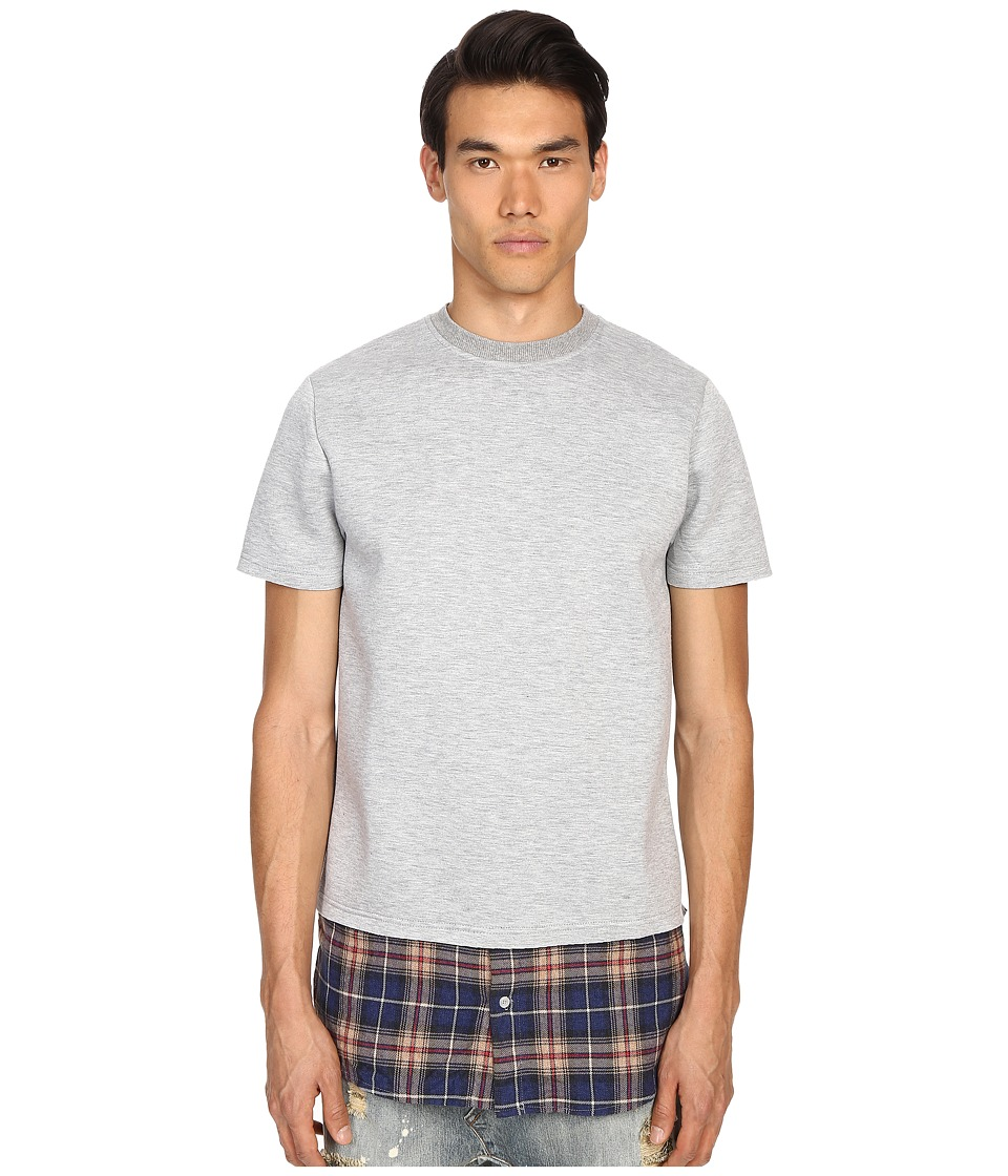 Mostly Heard Rarely Seen - Shirt Hem Neoprene Tee (Heather Grey) Men's T Shirt