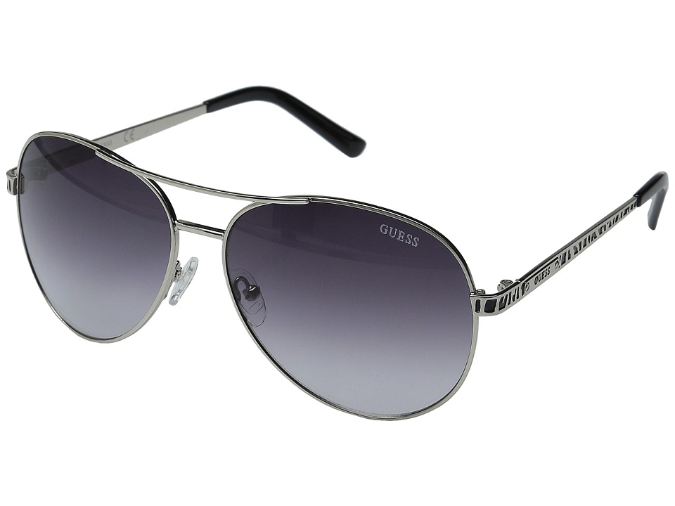 GUESS - GU0241F (Silver/Grey Gradient Lens) Fashion Sunglasses