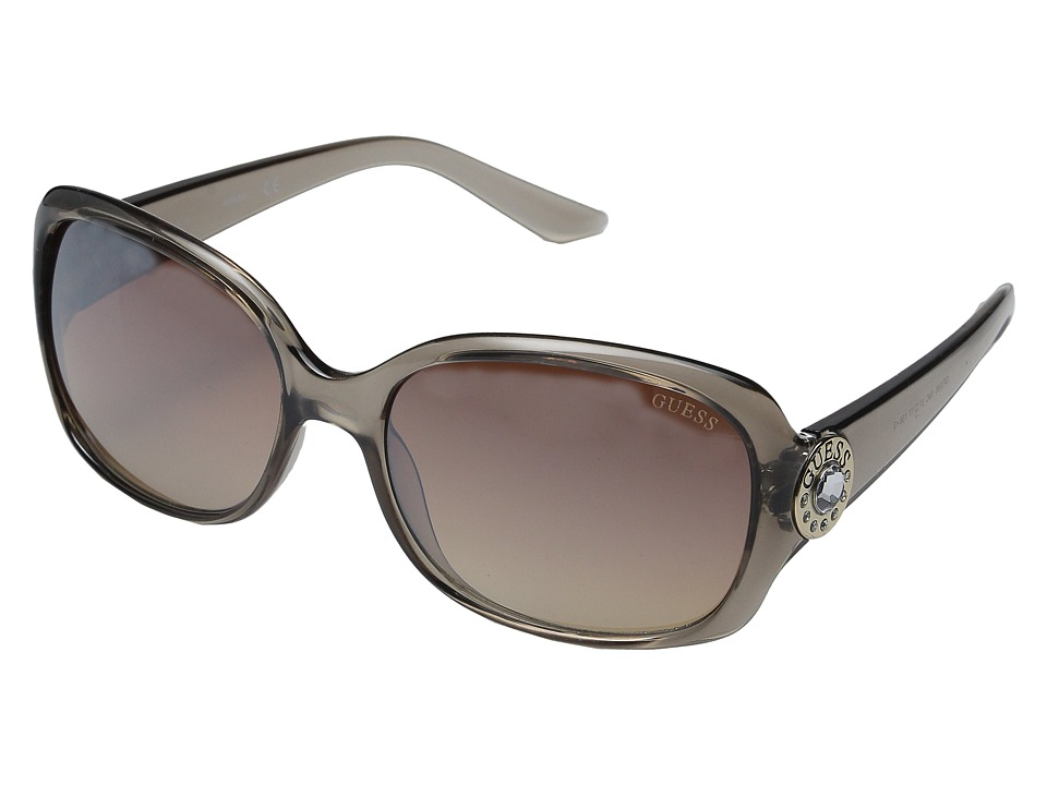 GUESS - GF0285 (Beige/Smoke Mirror Lens) Fashion Sunglasses