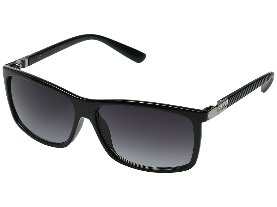 GUESS - GU0118F (Black/Grey Gradient Lens) Fashion Sunglasses