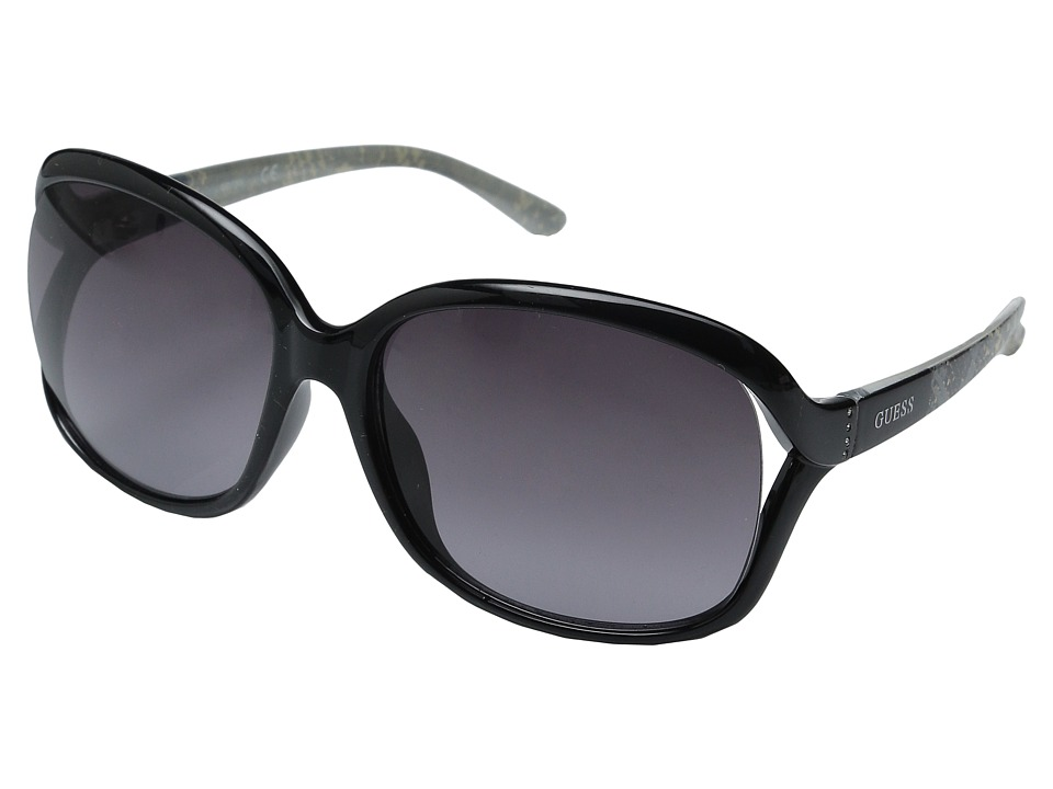 GUESS - GF0286 (Shiny Black/Gradient Smoke Lens) Fashion Sunglasses