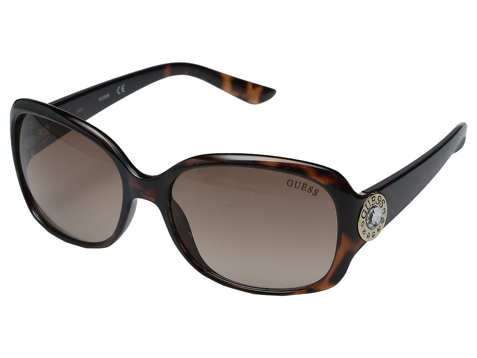GUESS - GF0285 (Dark Havana/Gradient Brown Lens) Fashion Sunglasses