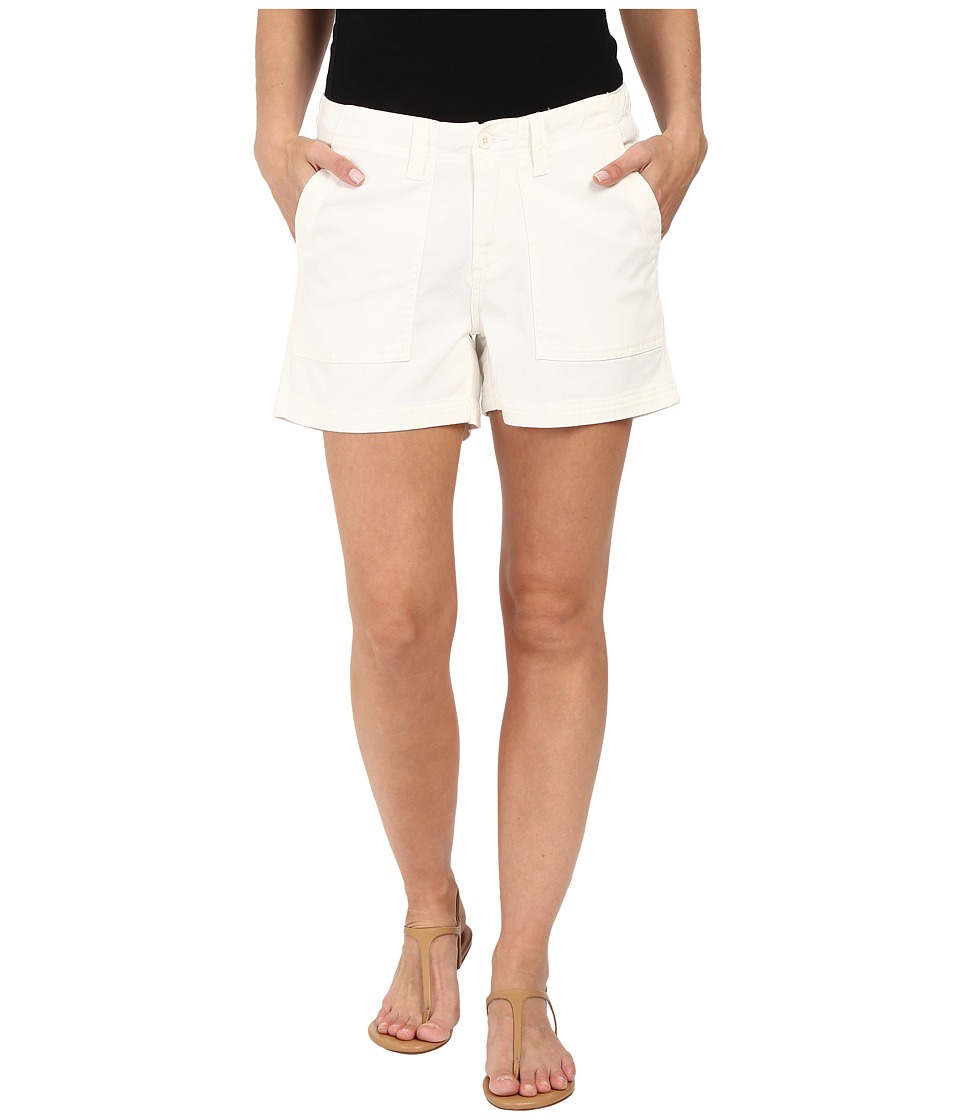 Dylan by True Grit - Effortless Stretch Cotton Classic Cargo Shorts (White) Women's Shorts