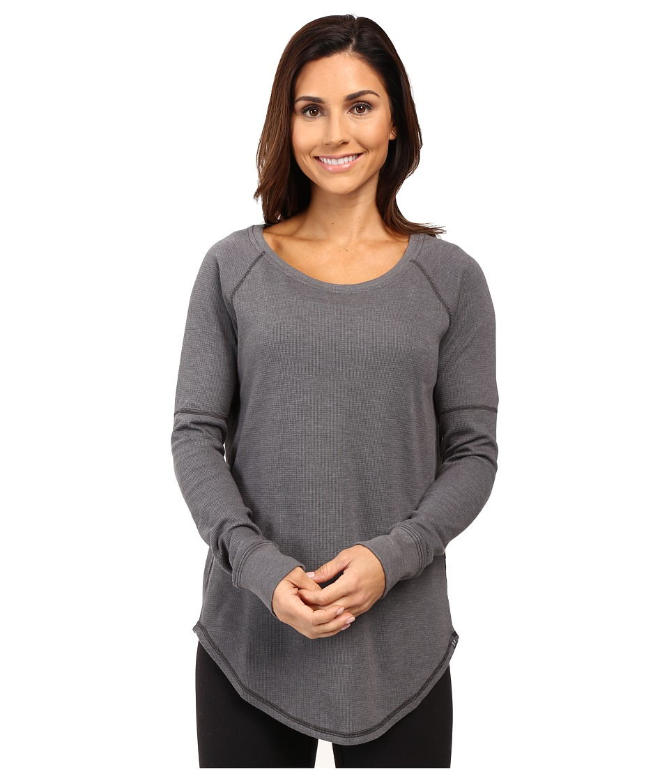 Under Armour - UA Waffle Raglan Long Sleeve Shirt (Carbon Heather/Carbon Heather) Women's Long Sleeve Pullover