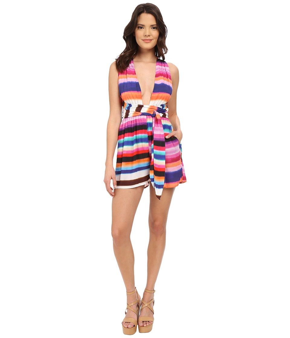 Mara Hoffman - Rayon Wrap Top Romper (Bubble Gum) Women's Jumpsuit & Rompers One Piece