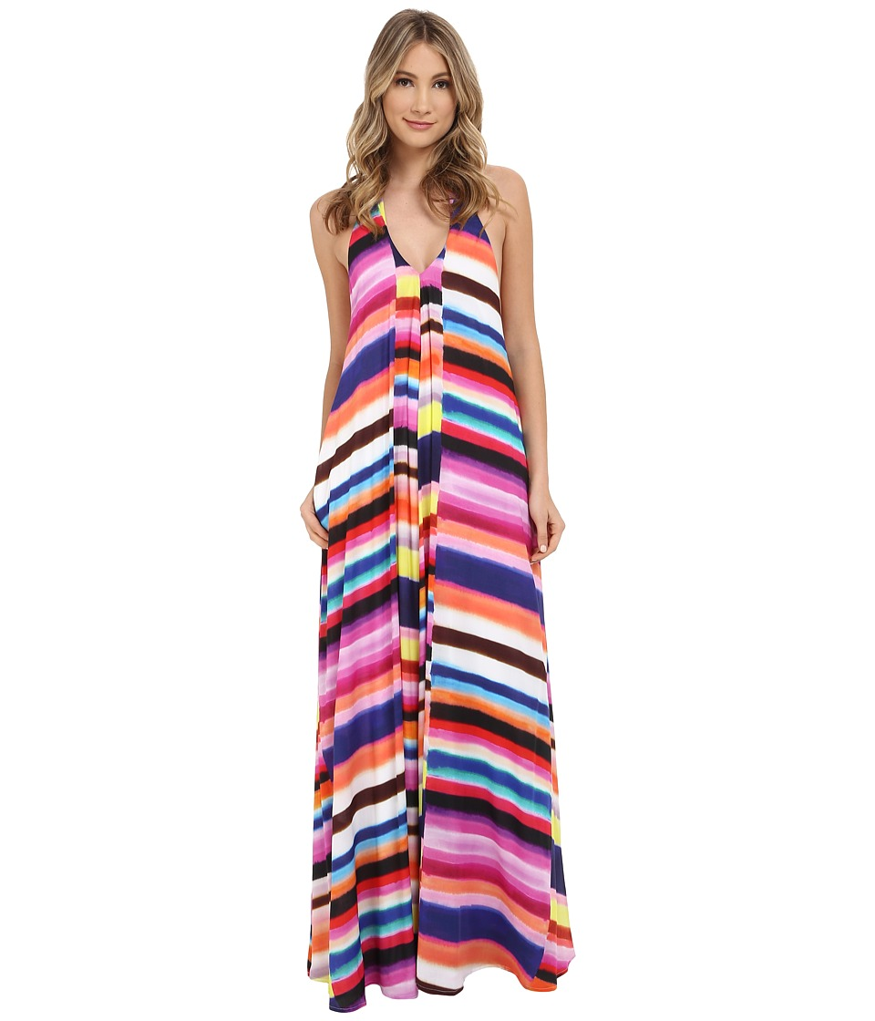 Mara Hoffman - Rayon Maxi Dress (Bubble Gum) Women's Dress