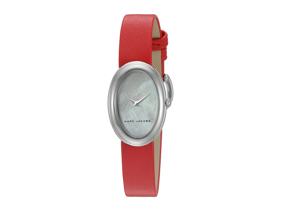 Marc Jacobs - Oval - MJ1457 (Red Strap/Stainless Case) Watches