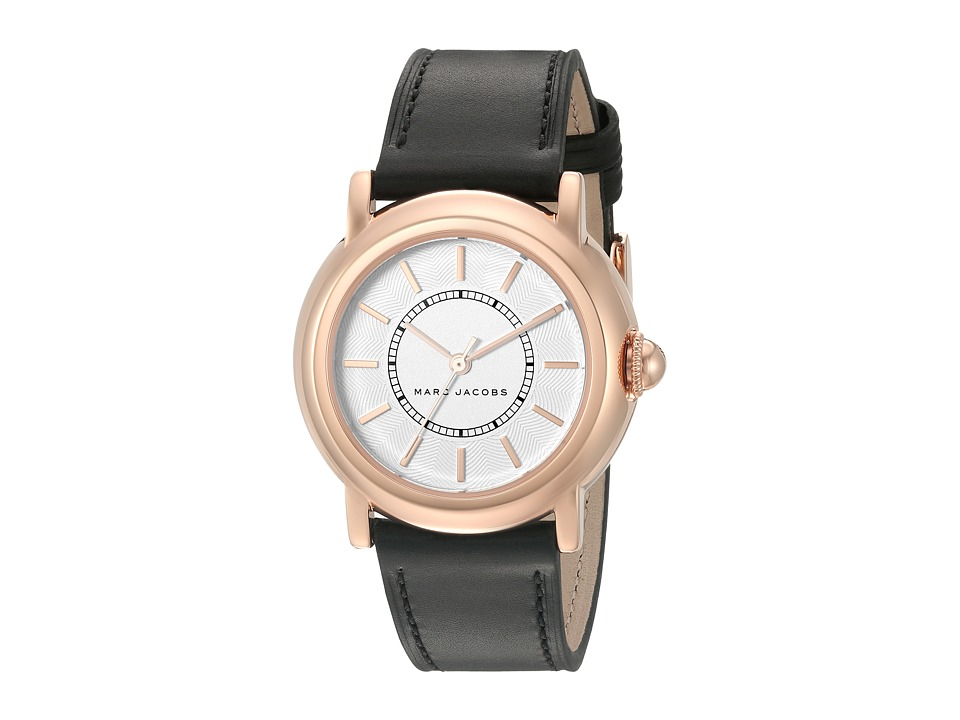 Marc Jacobs - Courtney - MJ1450 (Black Strap/Rose Gold Plated Case) Watches