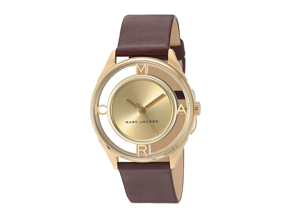 Marc Jacobs - Tether - MJ1459 (Oxblood Strap/Gold Plated Case) Watches