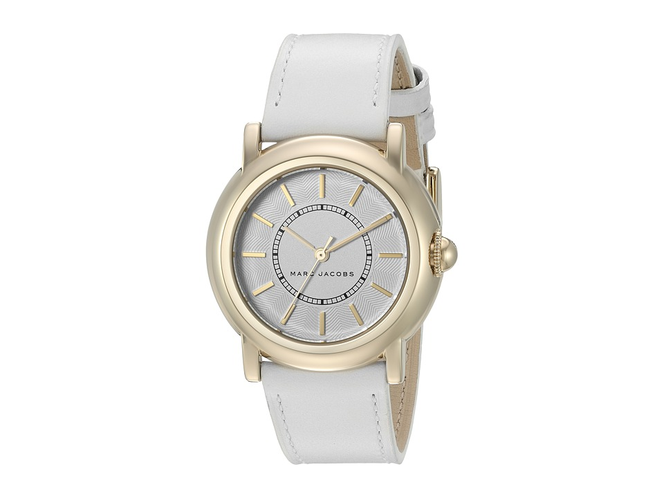 Marc Jacobs - Courtney - MJ1449 (White Strap/Gold Plated Case) Watches