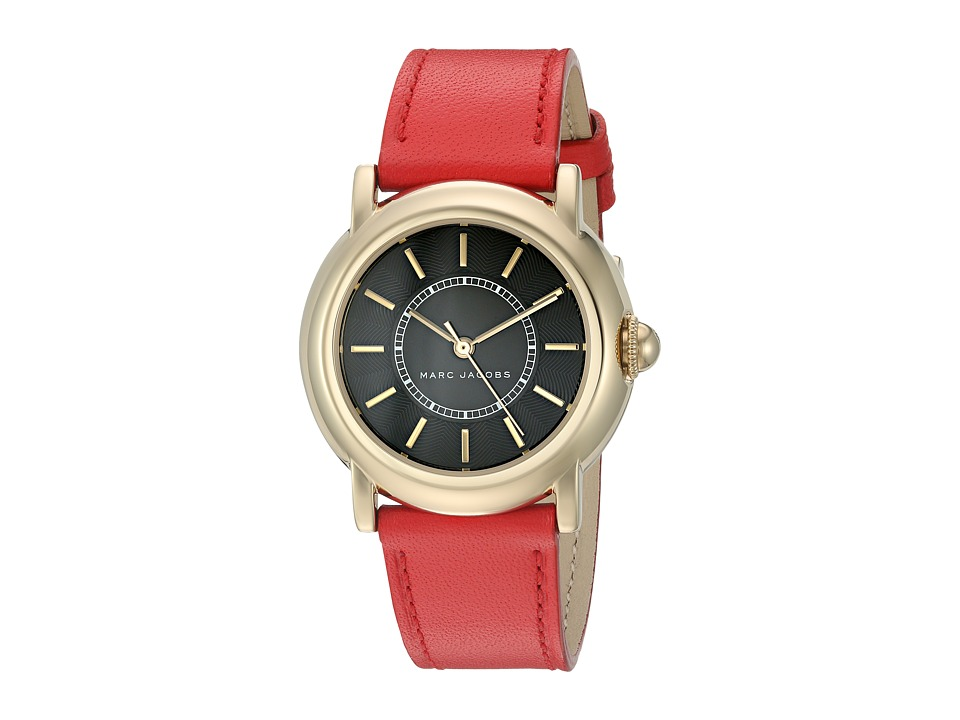 Marc Jacobs - Courtney - MJ1452 (Red Strap/Gold Plated Case) Watches