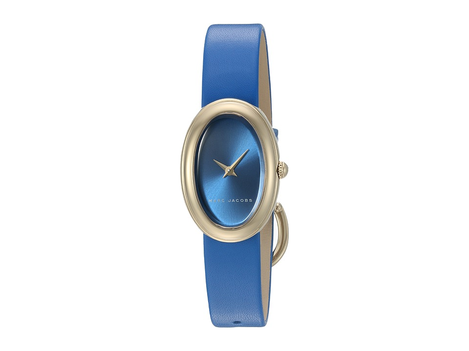 Marc Jacobs - Oval - MJ1455 (Blue Strap/Gold Plated Case) Watches