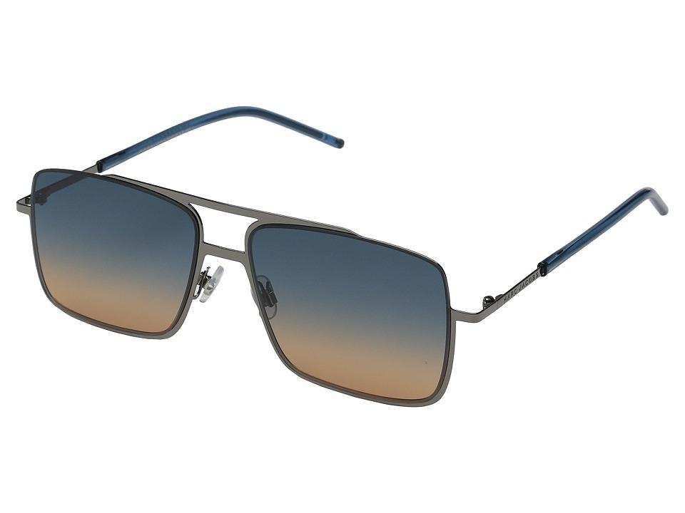 Marc Jacobs - MARC 35/S (Dark Ruthenium/Blue Orange) Fashion Sunglasses