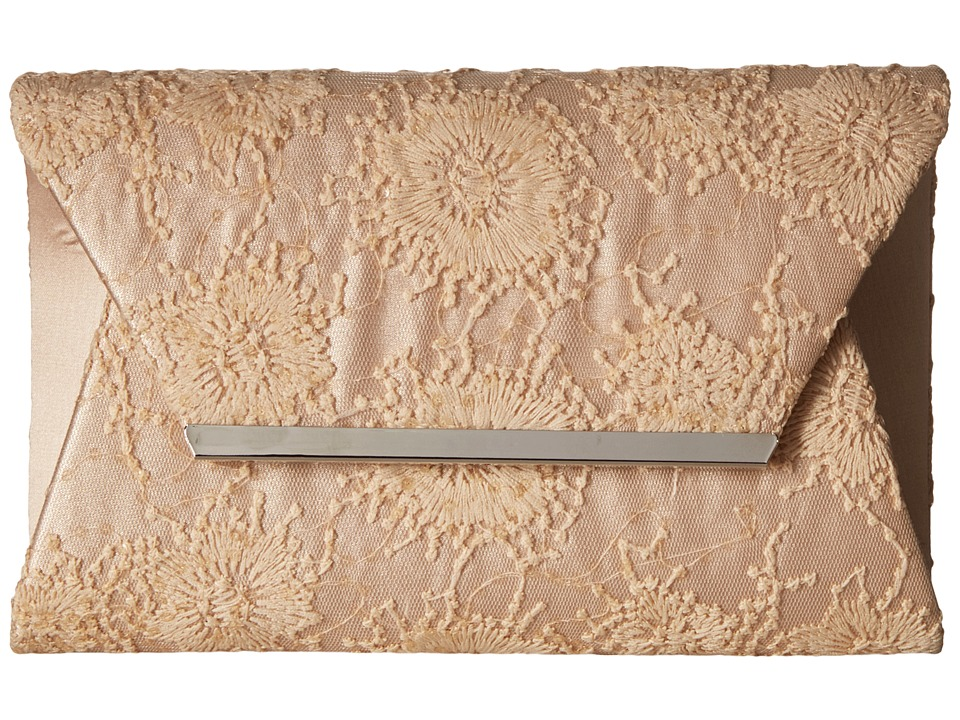 Jessica McClintock - Ryder Embroidered Clutch (Champagne) Clutch Handbags