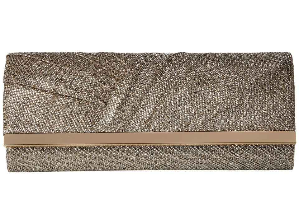 Jessica McClintock - Addison Pleated Clutch (Champagne) Clutch Handbags