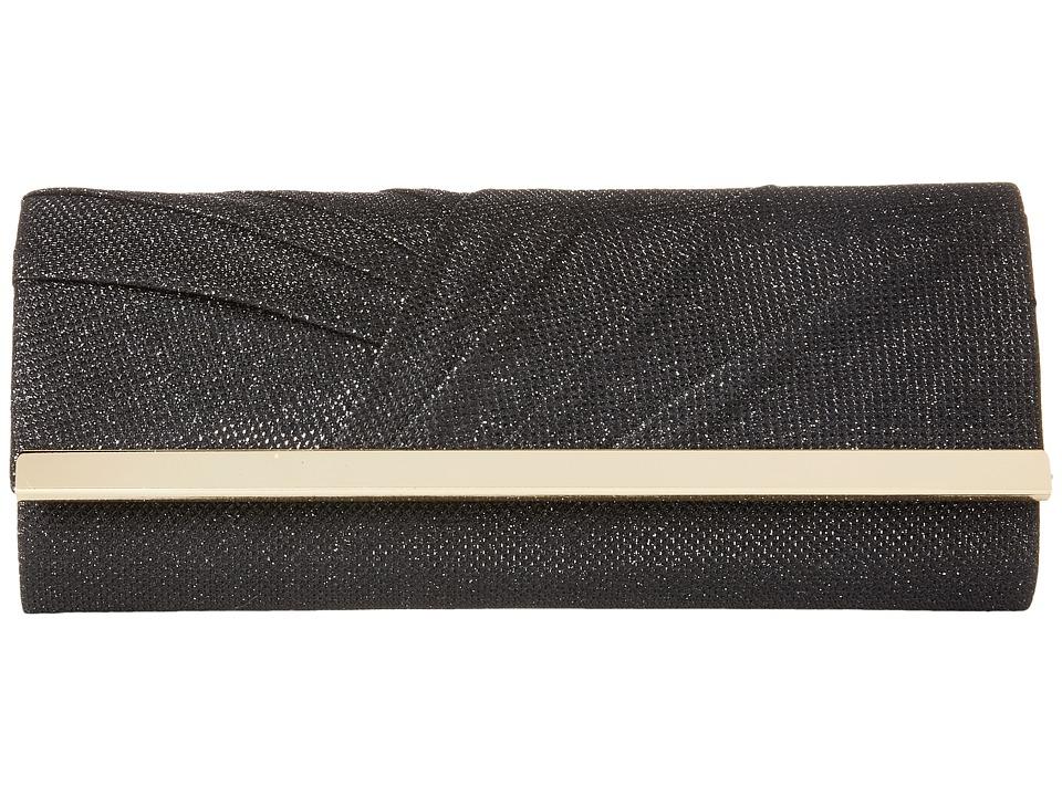 Jessica McClintock - Addison Pleated Clutch (Black) Clutch Handbags