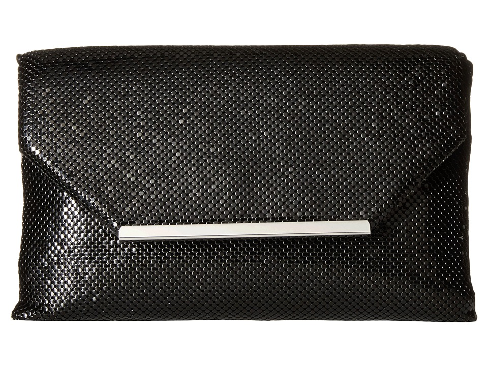Jessica McClintock - Keira Envelope Clutch (Black) Clutch Handbags