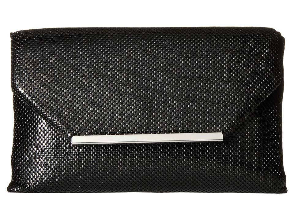 Jessica McClintock - Keira Envelope Clutch (Black) Clutch Handbags