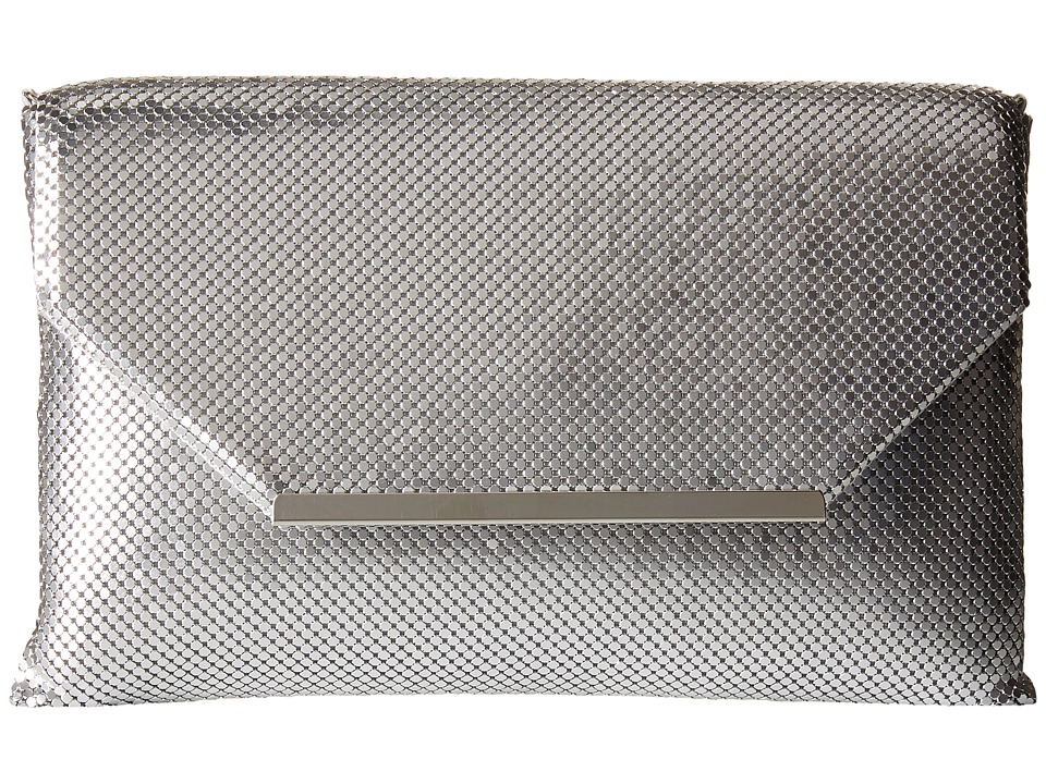 Jessica McClintock - Keira Envelope Clutch (Silver) Clutch Handbags