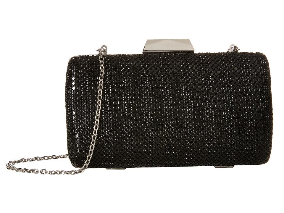 Jessica McClintock - Callie Stripe Mesh Minaudiere (Black) Handbags