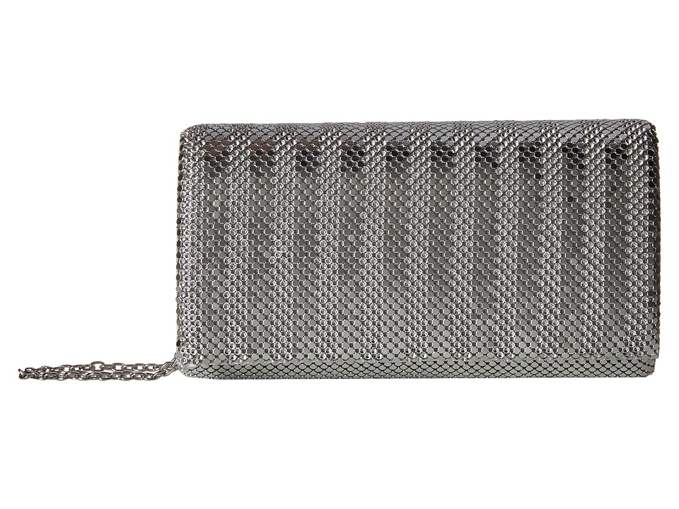Jessica McClintock - Cassie Stripe Mesh (Silver) Handbags