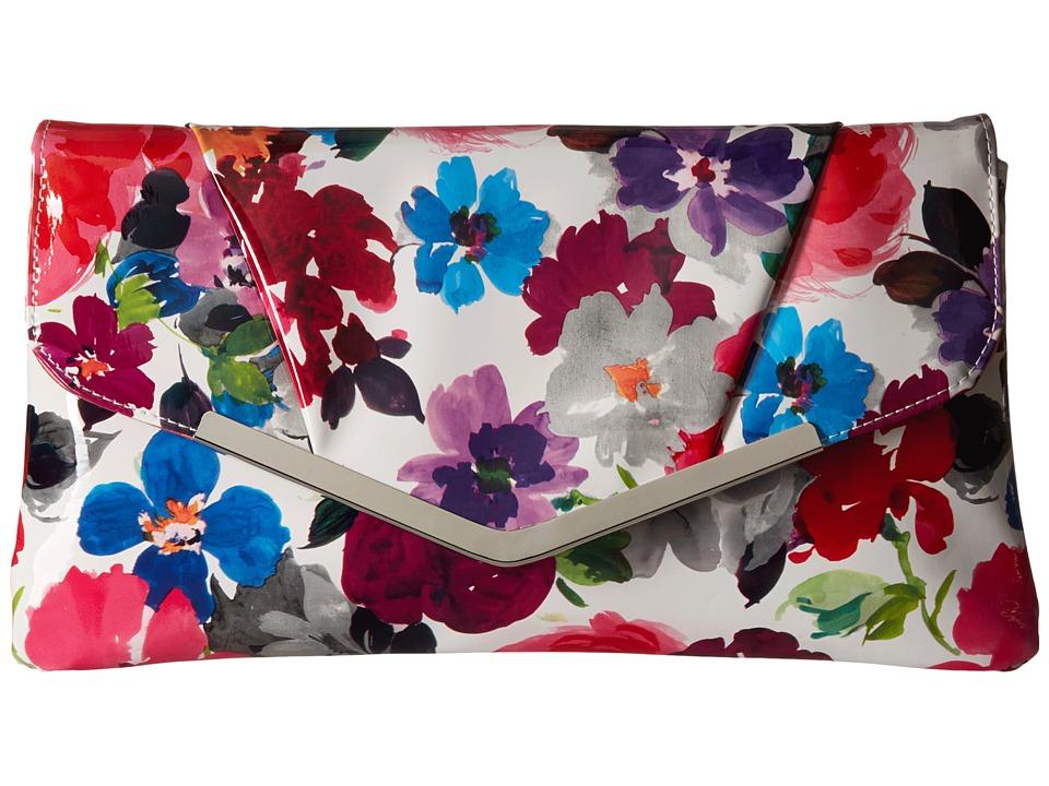 Jessica McClintock - Arielle Envelope Clutch (Watercolor Floral) Clutch Handbags