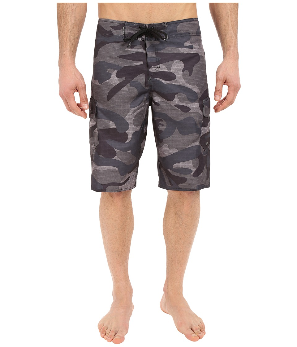 Quiksilver - Manic Camo 22 Boardshorts (Black) Men's Swimwear