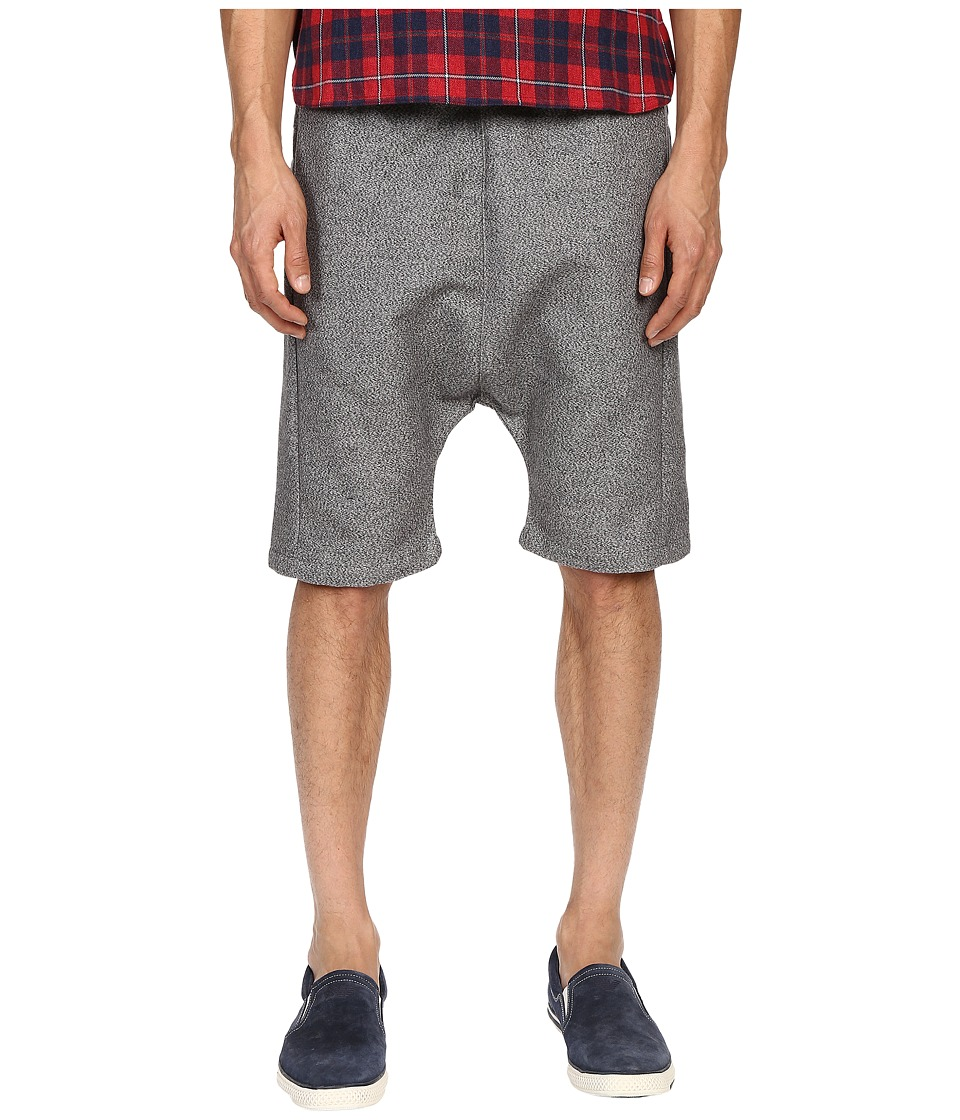 Mostly Heard Rarely Seen - Double Faced Drop Crotch Shorts (Heather Grey) Men's Shorts