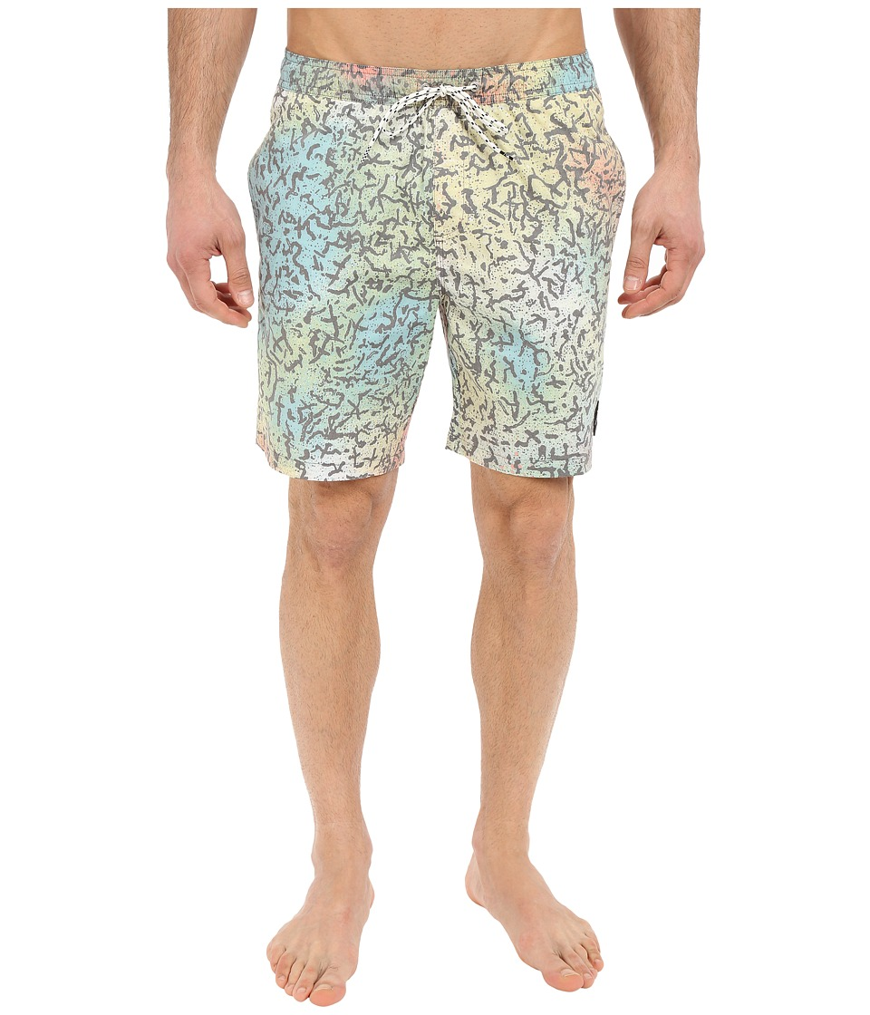 Quiksilver - Ghetto Mix Volley Boardshorts 18 (Cracked Safety Yellow) Men's Swimwear