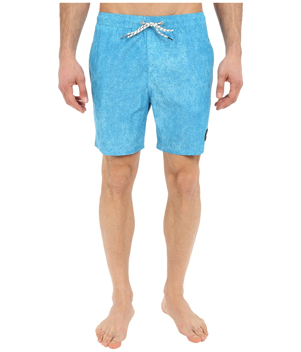 Quiksilver - Acid Print Volley Boardshorts 17 (Diva Blue) Men's Swimwear