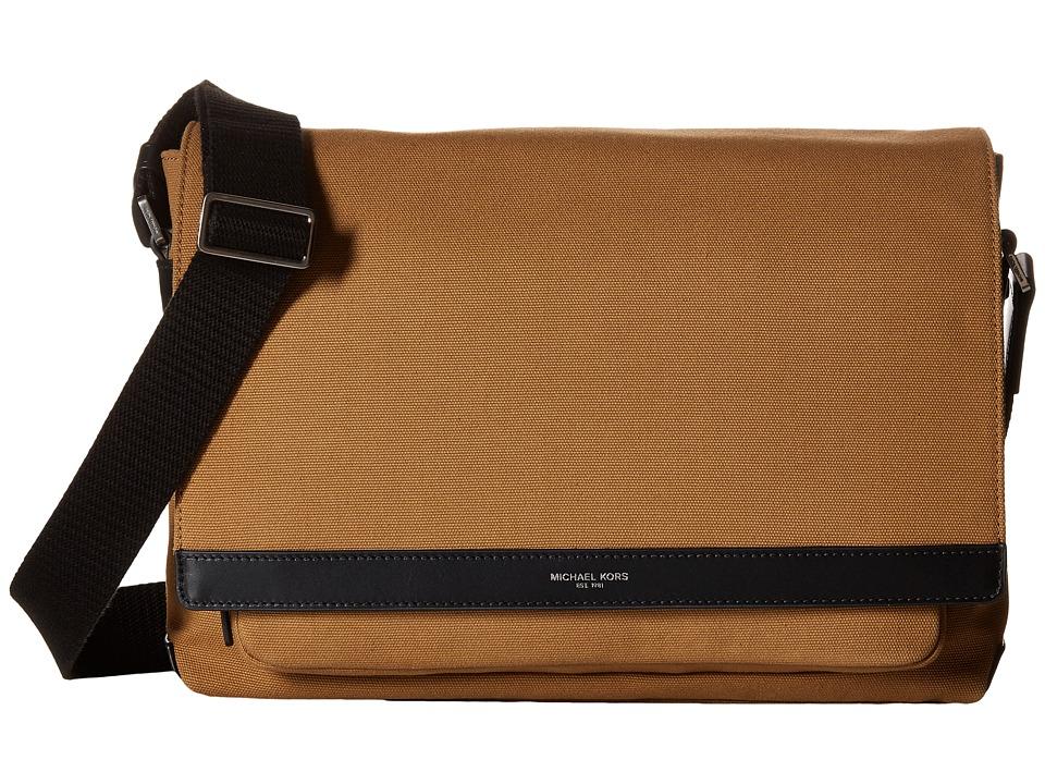 Michael Kors - Grant Large Messenger (Dark Camel) Messenger Bags