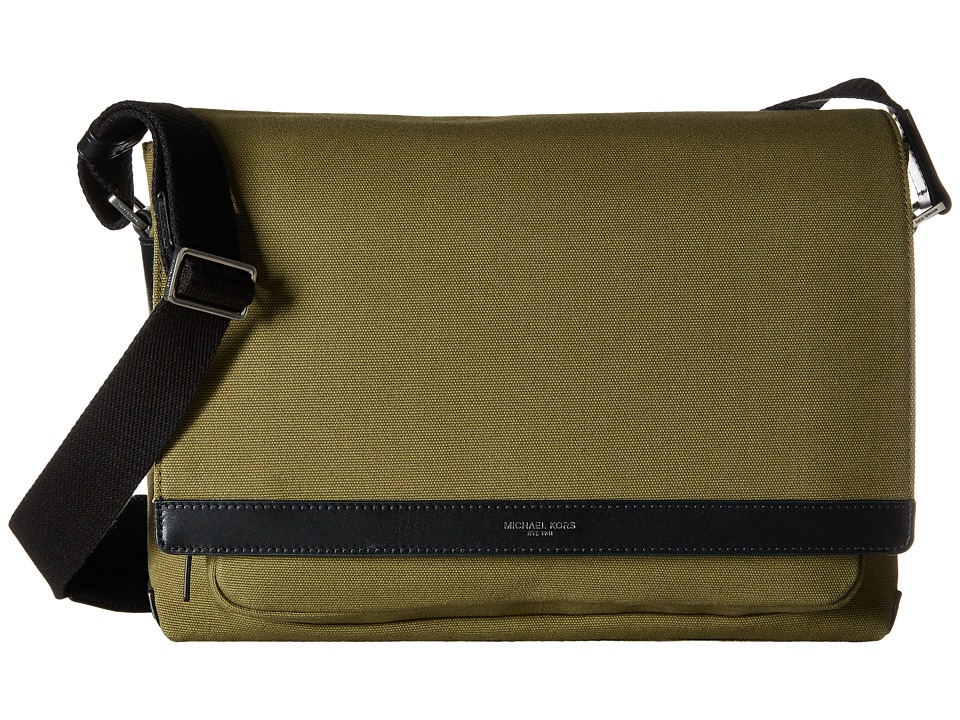 Michael Kors - Grant Large Messenger (Moss) Messenger Bags